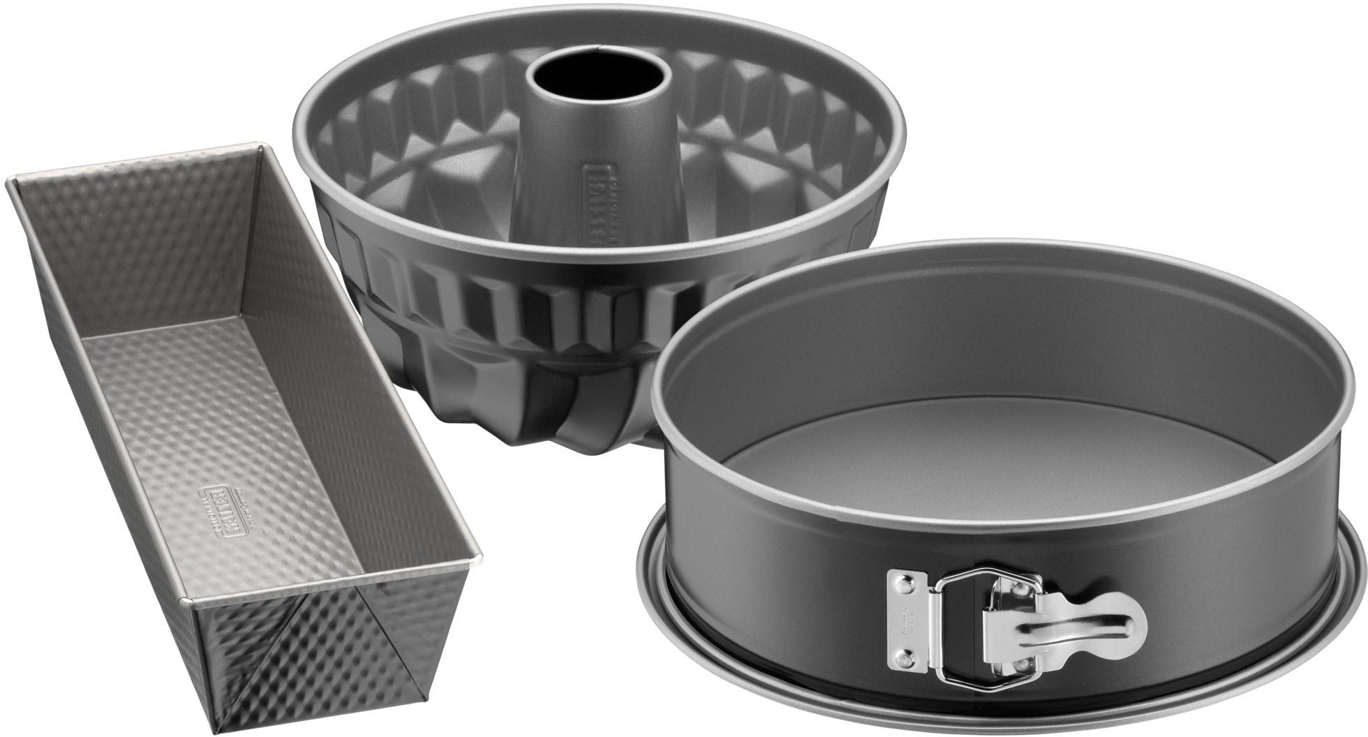 Kaiser Backform Inspiration, (Set, 3 St.) grau Backformen Backbleche Kochen Backen Haushaltswaren