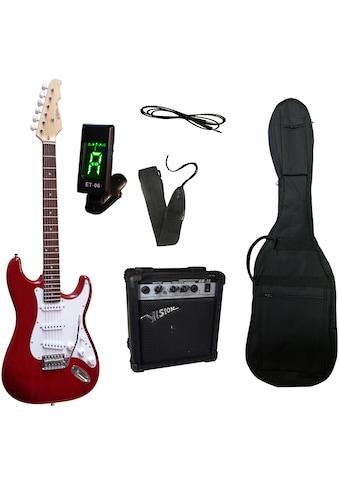 Gitarrenset »E-Gitarre - ready to go«, inkl. Verstärker, Gitarrentasche, Gitarrengurt,... kaufen