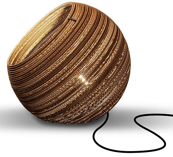 think paper Tischleuchte Globe 290, E27, 1 St., Wohnleuchten aus Papier, Hänglampe, Hängleuchte aus Pappe, stylische Papierleuchten