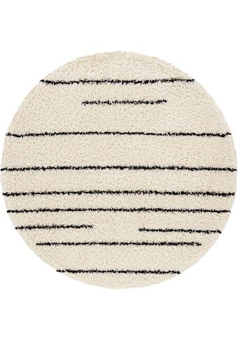 andas Hochflor-Teppich »Fria«, rund, 35 mm Höhe, weicher Flor, Wohnzimmer kaufen