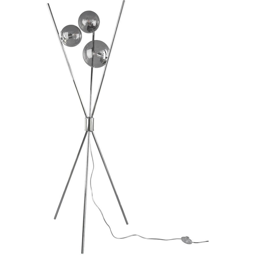 TRIO Leuchten Stehlampe »Lance«, E14, 1 St., Fußschalter, Leuchtmittel tauschbar