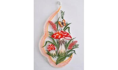 Stickereien Plauen Fensterbild »Pilze« (1 Stück) kaufen
