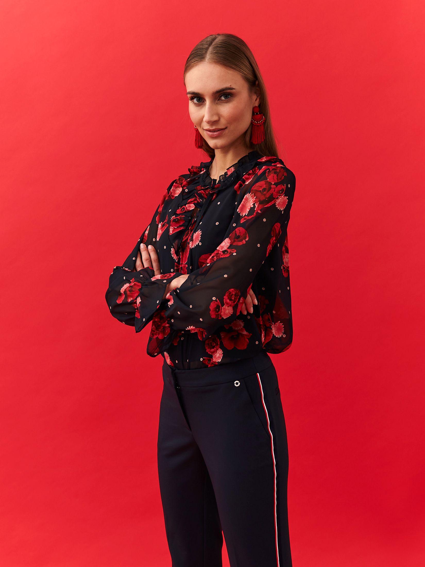 TOP SECRET Bluse mit floralem Print