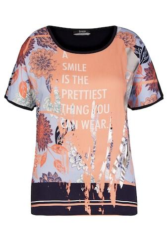 FRAPP Angesagtes T - Shirt mit Statement - Print kaufen