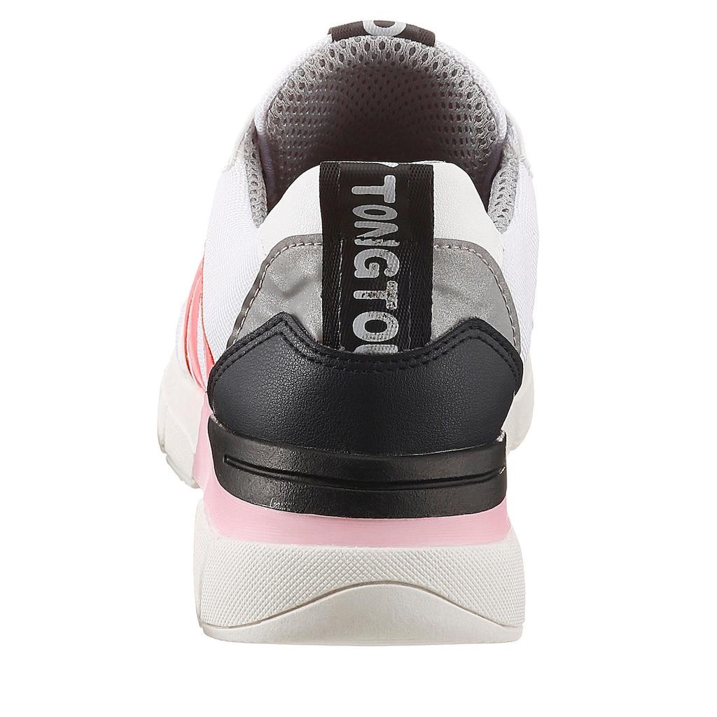 Bruno Banani Wedgesneaker, mit Neon-Details