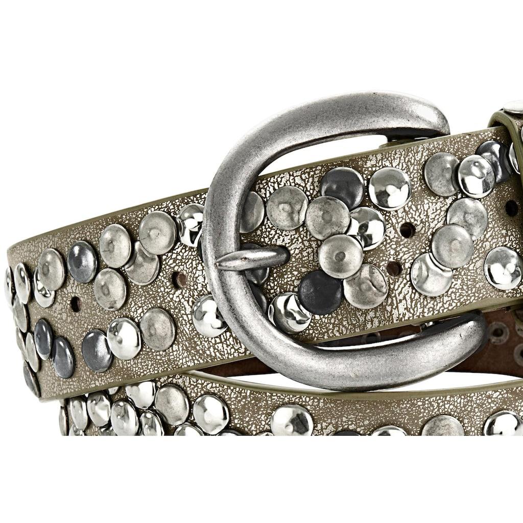 heine Nietengürtel, mit Metallnieten