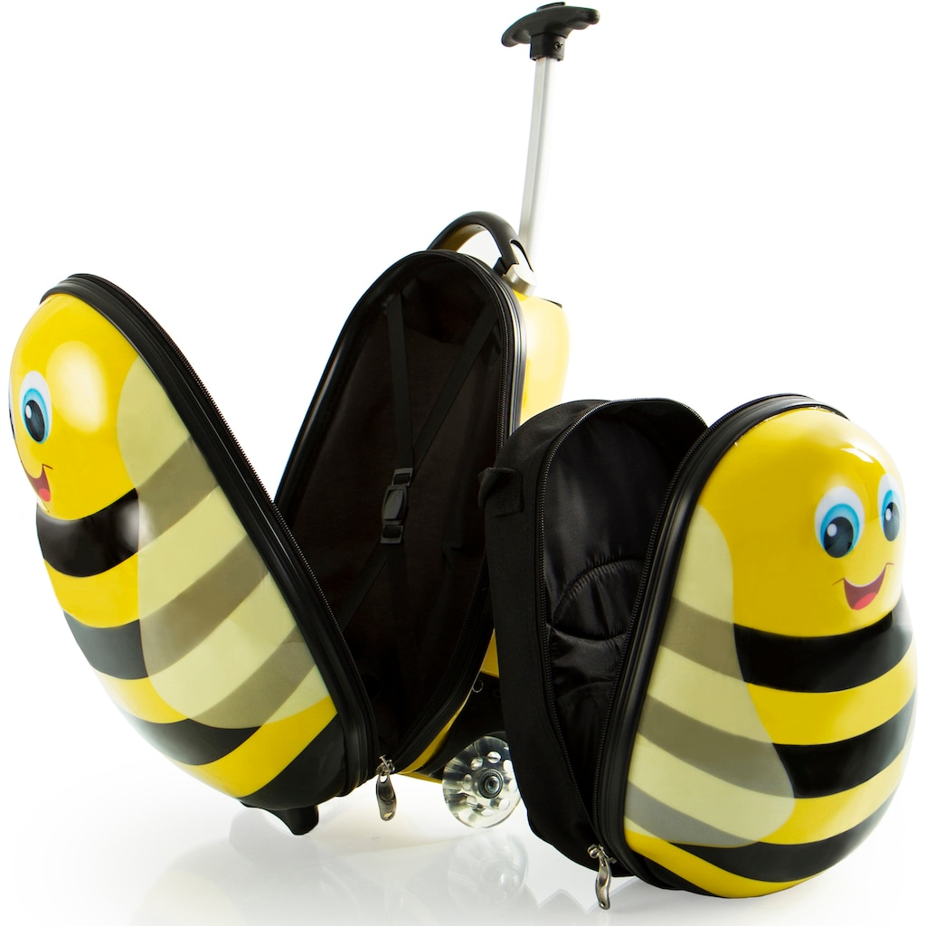 Heys Kinderkoffer »Travel Tots, 46 cm, Hummel«, (Set, 2 St.), 2 Rollen, inklusive Rucksack