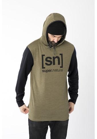 SUPER.NATURAL Kapuzensweatshirt »M ALPINE HOODED«, funktioneller Merino-Materialmix kaufen