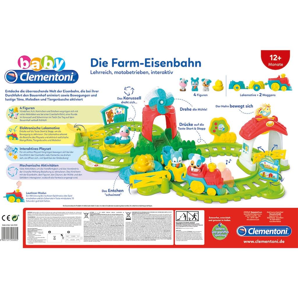 Clementoni® Spielzeug-Zug »Baby Clementoni - Farm-Eisenbahn«, mit Sound; Made in Europe