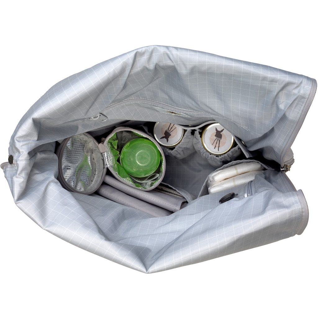 LÄSSIG Wickelrucksack »Green Label, Rolltop, grey«, PETA-approved vegan; zum Teil aus recycelten Material