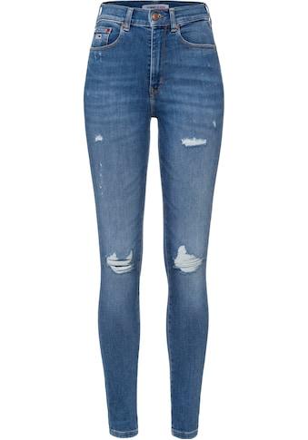 Tommy Jeans Skinny-fit-Jeans »SYLVIA HR SPR SKNY BE237 MBPVSTD«, mit heavy... kaufen