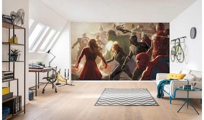 Komar Fototapete »Avengers Final Battle«, bedruckt-Comic-Retro-mehrfarbig, BxH:... kaufen