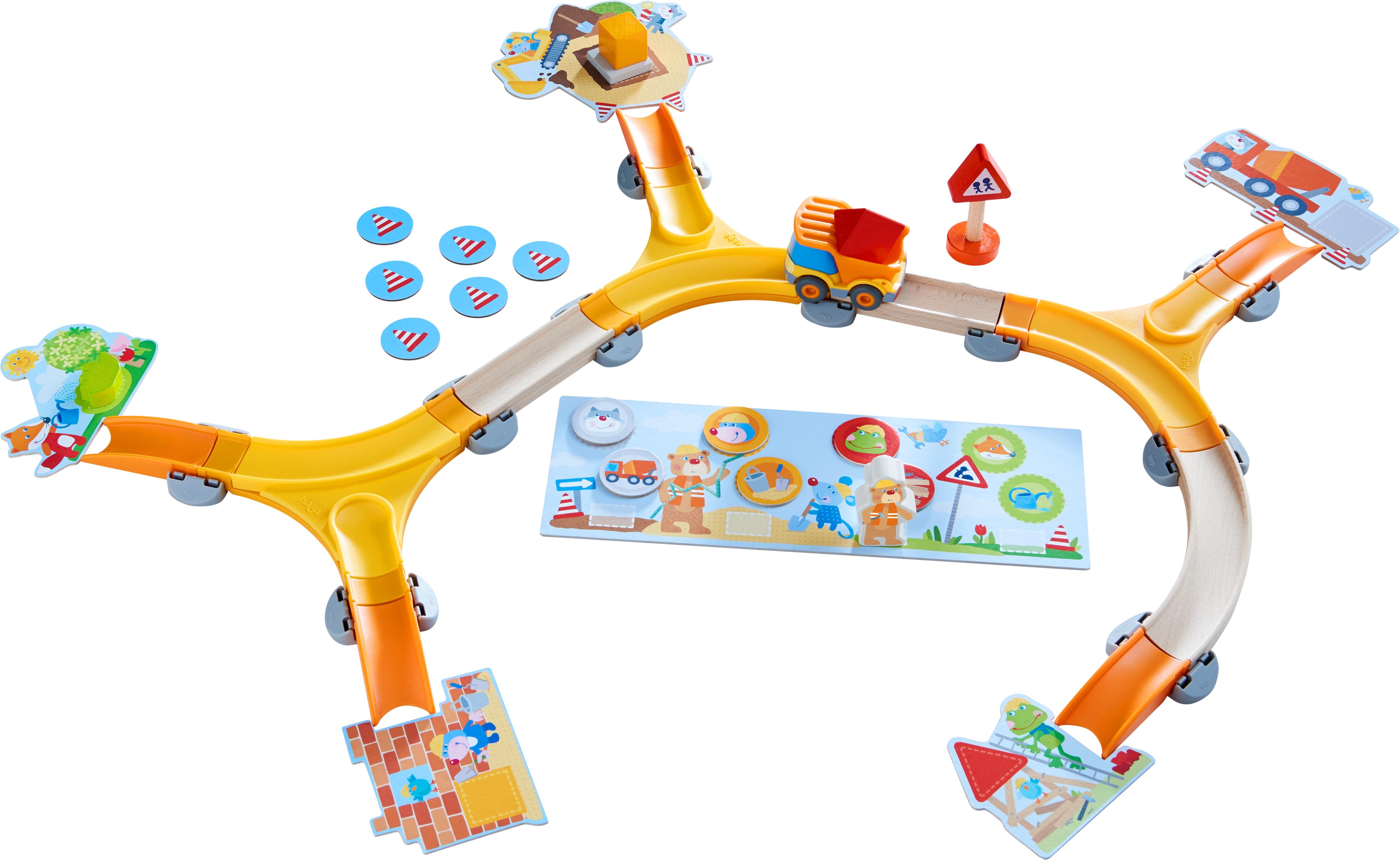 Haba Spiel Meine ersten Spiele - Baustelle, Made in Germany bunt Kinder Holzspielzeug