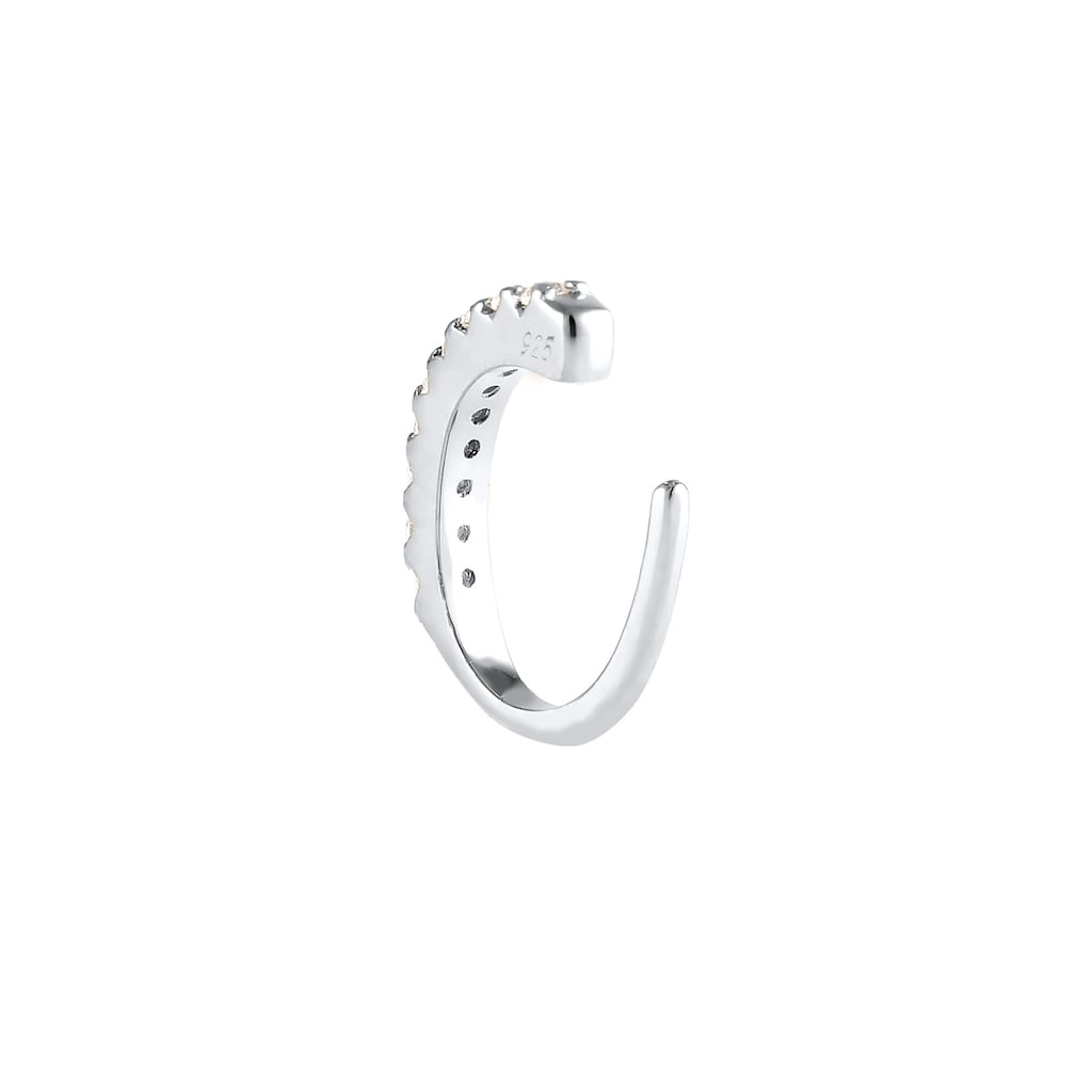 Elli Single-Ohrhaken »Single Earcuff Zirkona Kristalle Trend 925 Silber«