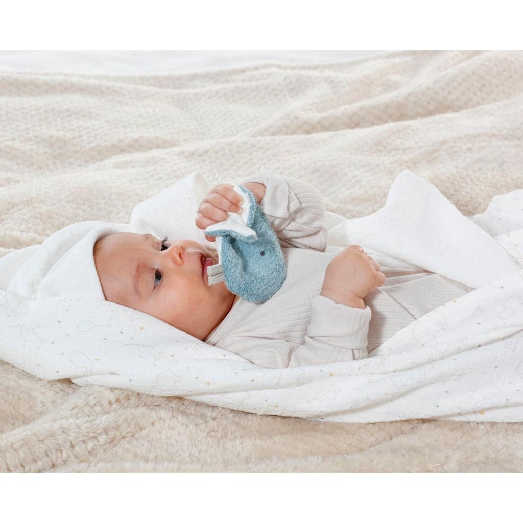 Fehn Babydecke »fehnNATUR Musselindecke«, mit Knister-Wal; Enthält Bio-Baumwolle
