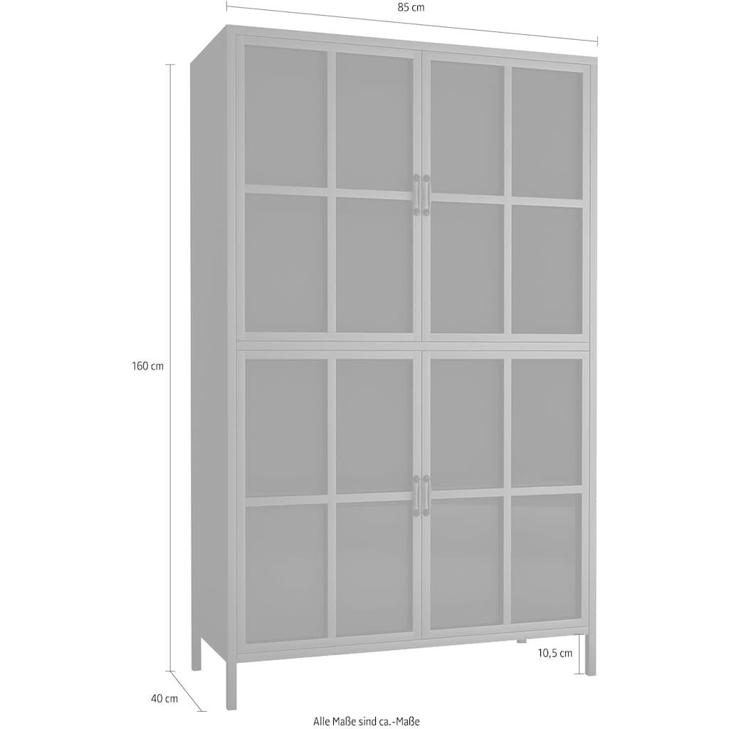 Homexperts Highboard »Choice«, designorientiertes Highboard mit Glastüren