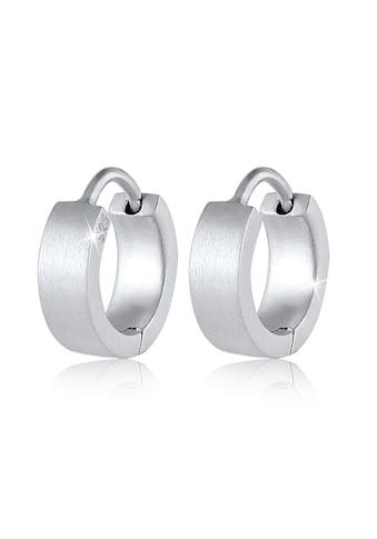 Kuzzoi Paar Creolen »Männer Creole Kreis Matt 925 Sterling Silber« kaufen