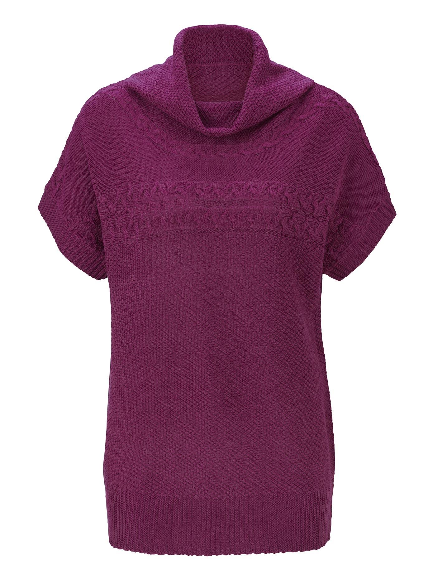 Classic Basics Pullunder mit schmeichelndem halsfernem Rollkragen | Bekleidung > Pullover > Pullunder | Lila | Classic Basics