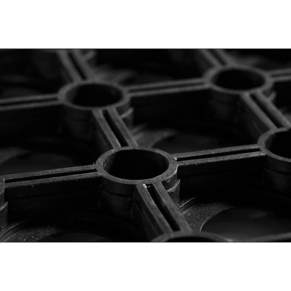Andiamo Fußmatte »Gummi Ringmatte«, rechteckig, 15 mm Höhe, Fussabstreifer, Fussabtreter, Schmutzfangläufer, Schmutzfangmatte, Schmutzfangteppich, Schmutzmatte, Türmatte, Türvorleger, In- und Outdoor geeignet, besonders robust
