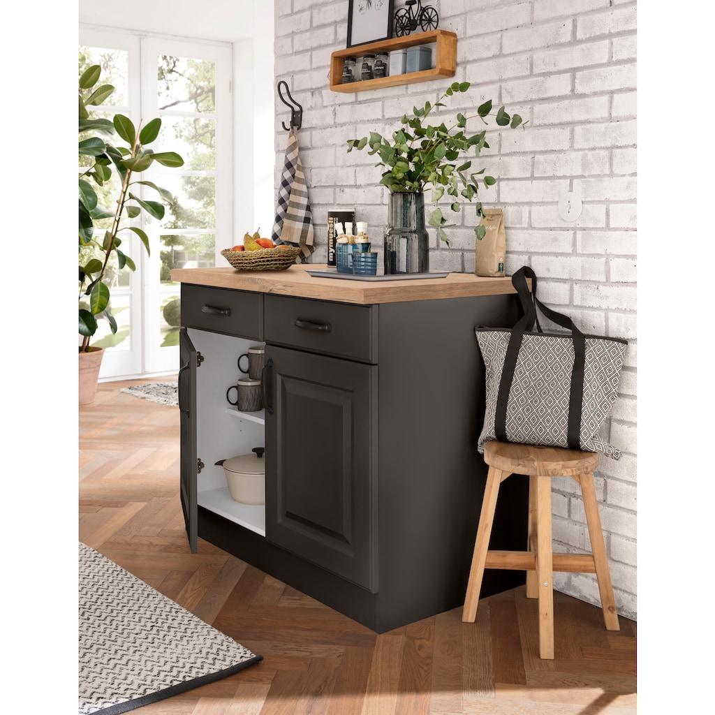 wiho Küchen Unterschrank »Erla«, 100 cm breit mit Kassettenfront