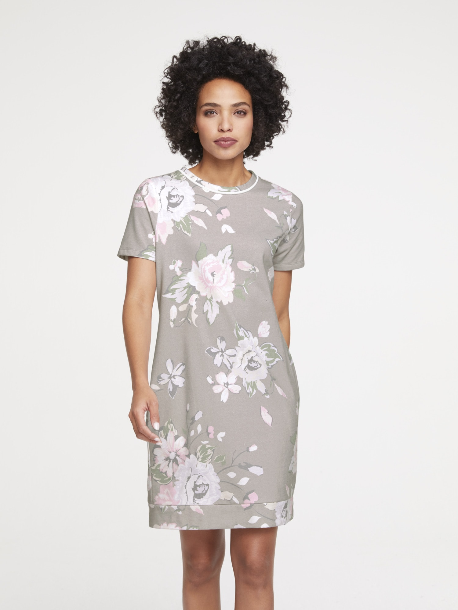 Druckkleid mit Blumenprint | Bekleidung > Kleider > Druckkleider | Linea Tesini By Heine