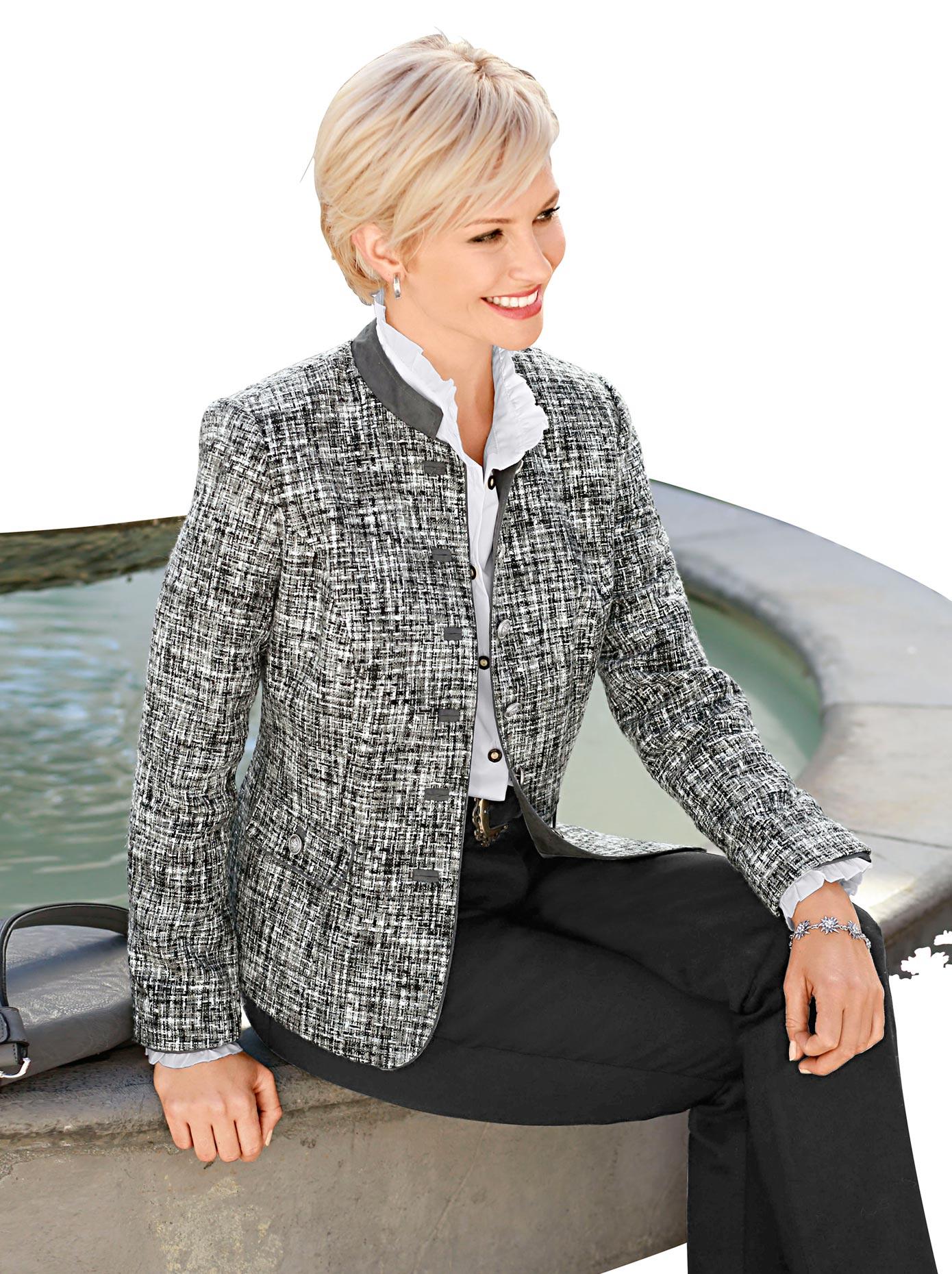 classic blazer in weicher boucl qualit t online auf. Black Bedroom Furniture Sets. Home Design Ideas