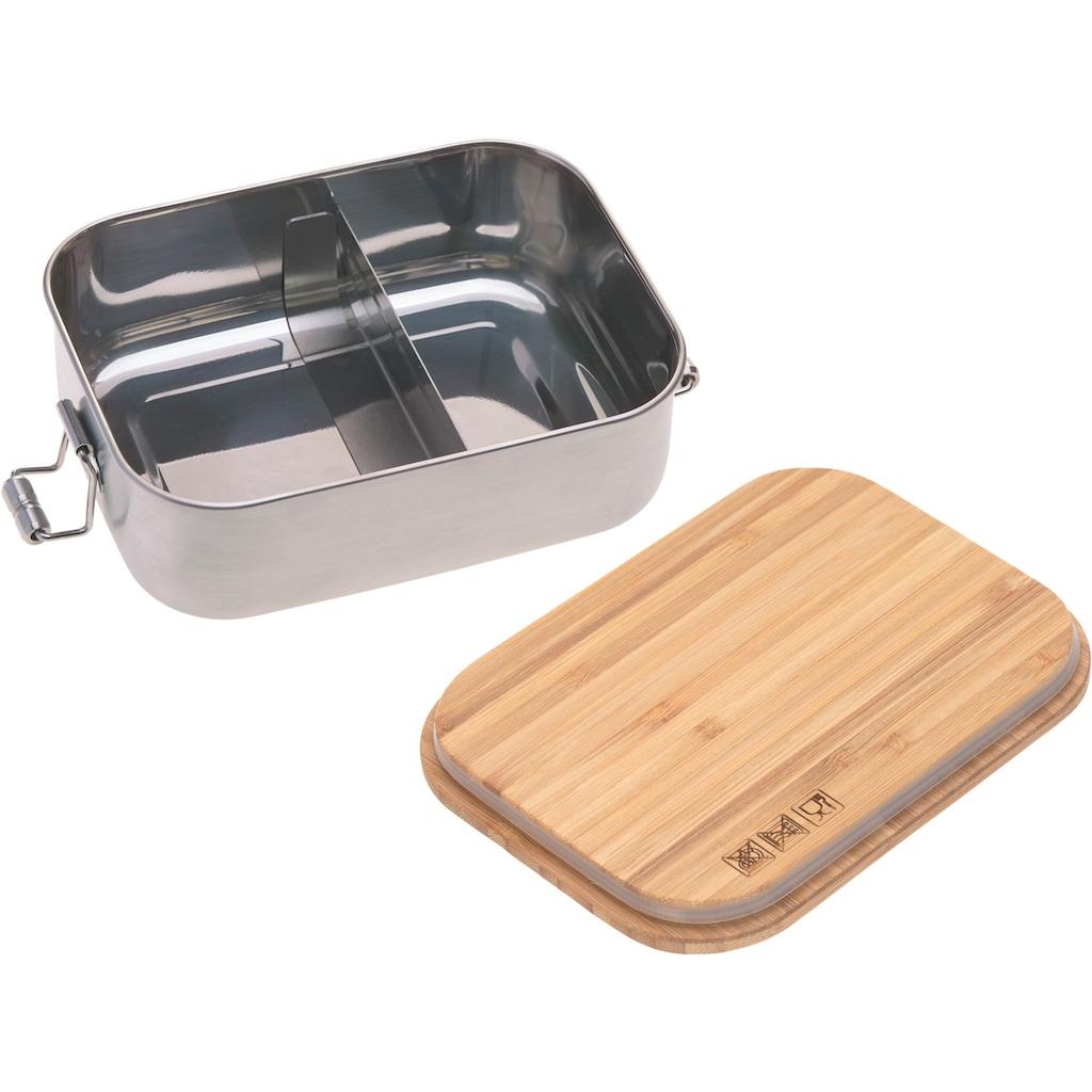 Lässig Lunchbox »Garden Explorer«, (1 tlg.), mit Holzdeckel