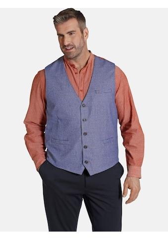 Charles Colby Anzugweste »DUKE LERON«, traditionelles Karomuster kaufen