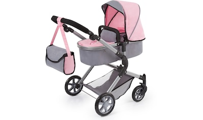 Bayer Kombi-Puppenwagen »City Neo, Hellgrau/Rosa« kaufen