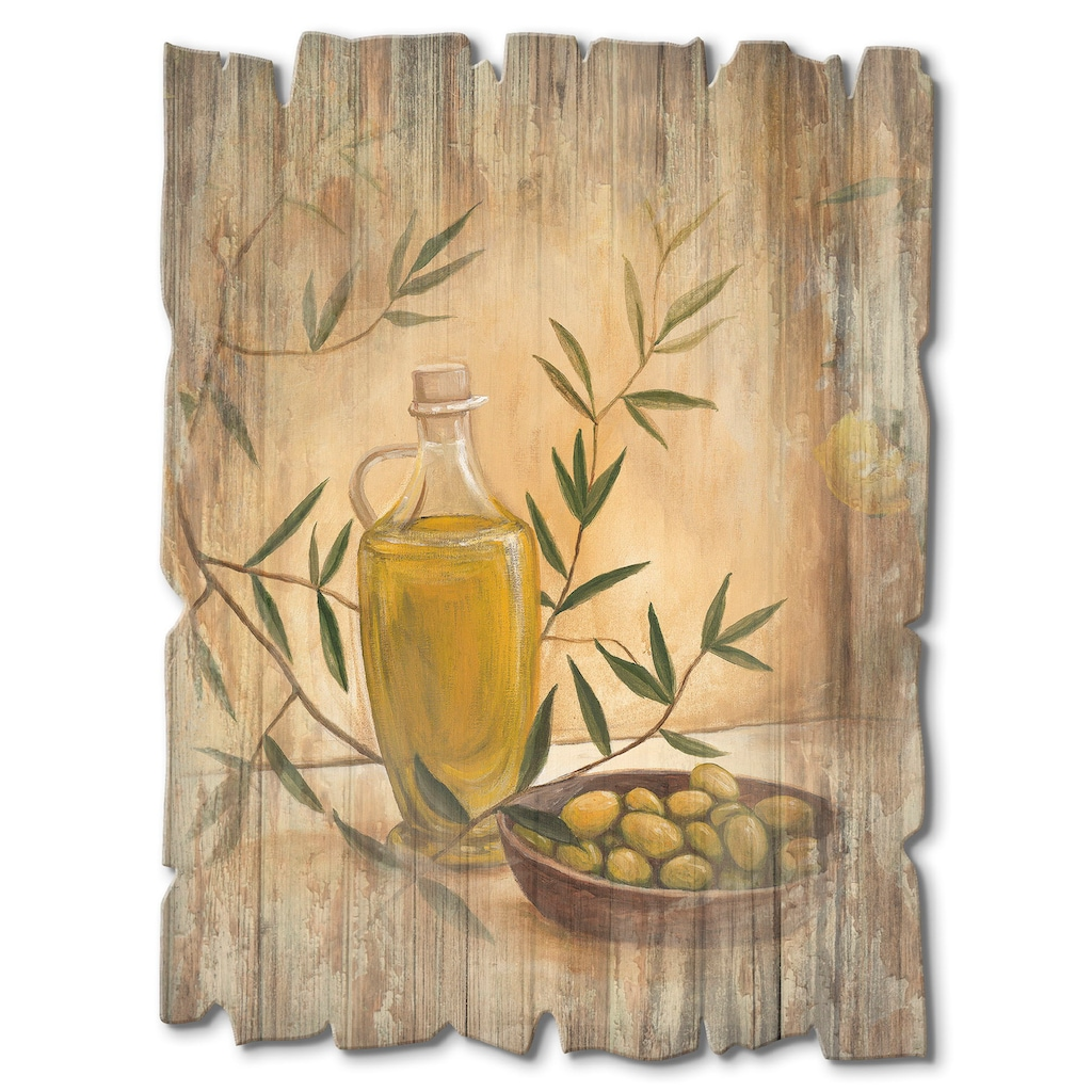 Artland Holzbild »Oliven und Zitronen«, Arrangements, (1 St.)