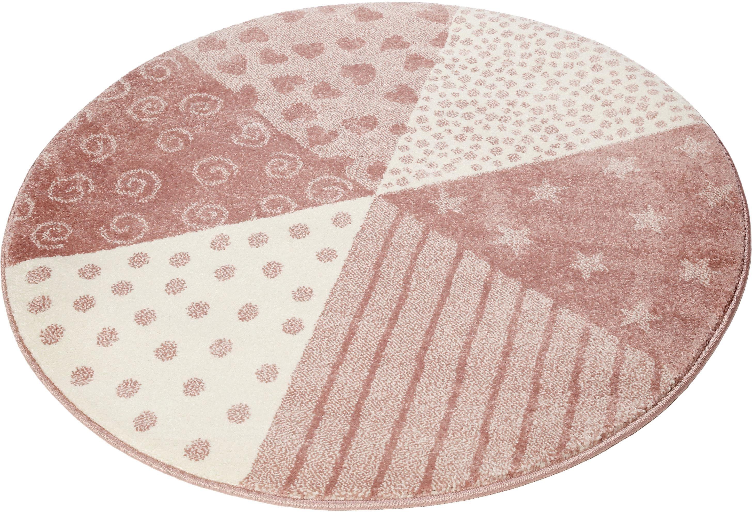 Sigikid Kinderteppich Canon, rund, 13 mm Höhe rosa Kinder Kinderteppiche mit Motiv Teppiche