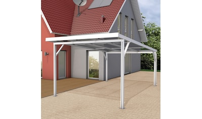 GUTTA Einzelcarport »Premium«, Aluminium, 293,4 cm, weiß, BxT: 309x562 cm, Dacheindeckung Polycarbonat gestreift weiß kaufen