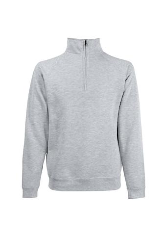 Fruit of the Loom Stehkragenpullover »Herren Sweatshirt mit Reißverschluss bis zur Brust« kaufen