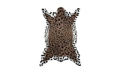 me gusta Fellteppich »Desert 300«, fellförmig, 19 mm Höhe, Kunstfell, Leoparden Design, Wohnzimmer kaufen
