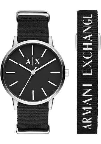 ARMANI EXCHANGE Quarzuhr »AX7111«, (Set, 2 tlg., mit Armband), mit Armband kaufen
