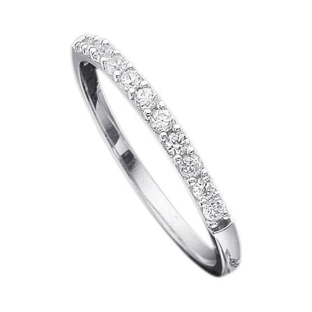 Firetti Verlobungsring »Vorsteckring, Weißgold, 2,5 mm breit«, mit Diamanten