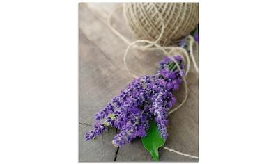 Artland Glasbild »Lavendel Strauß«, Blumen, (1 St.) kaufen