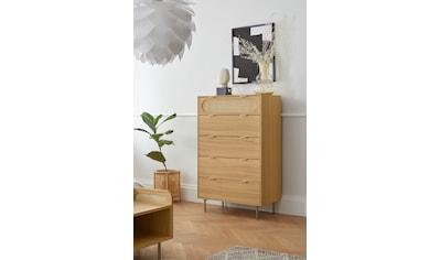 andas Hochkommode »Liselle«, Design by Morten Georgsen, Kommode mit Wiener Geflecht und Eiche Furnier kaufen