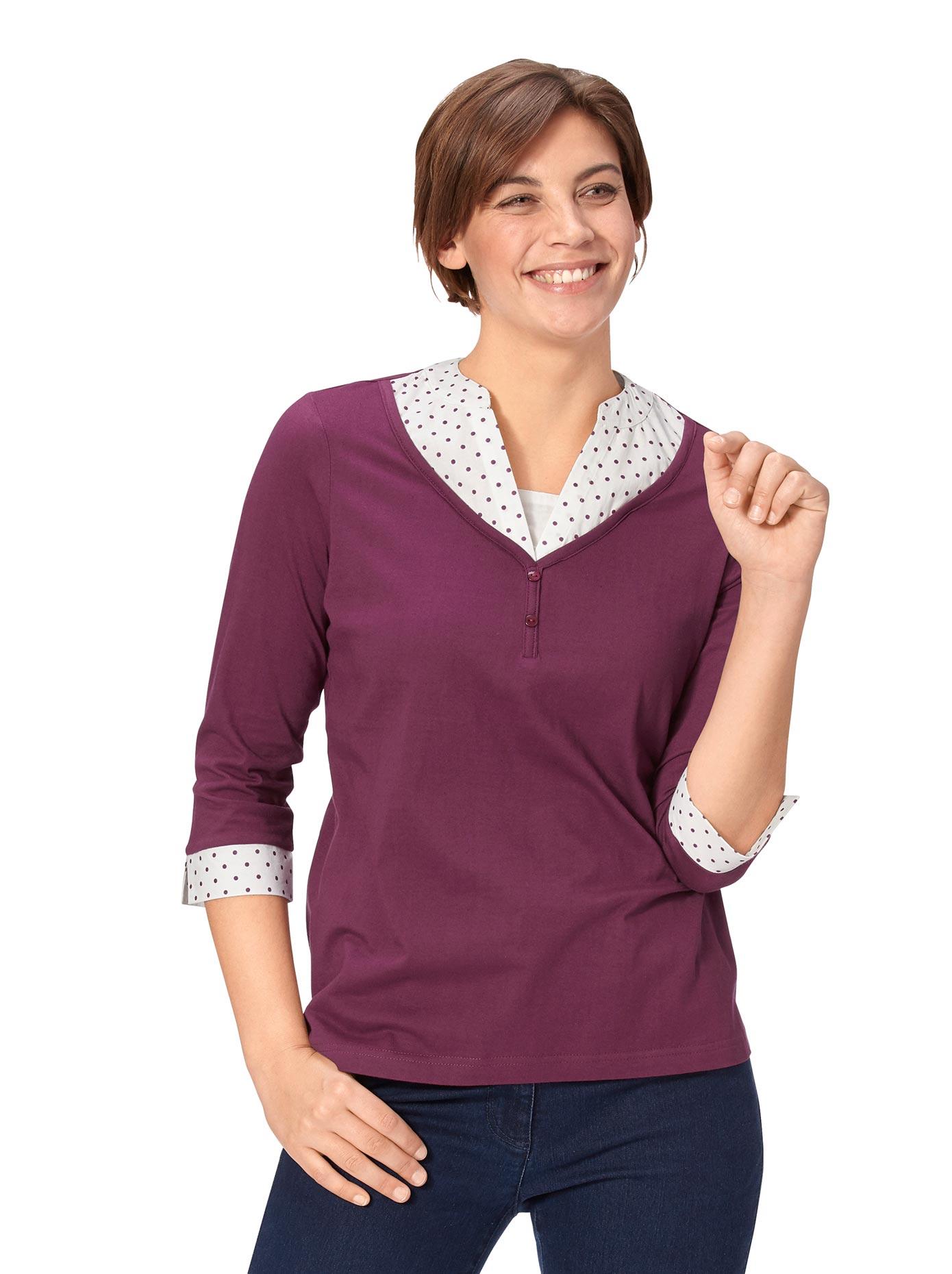 Classic Basics 2-in-1-Shirt mit geschlitzten Manschetten | Bekleidung > Shirts > 2-in-1 Shirts | Classic Basics