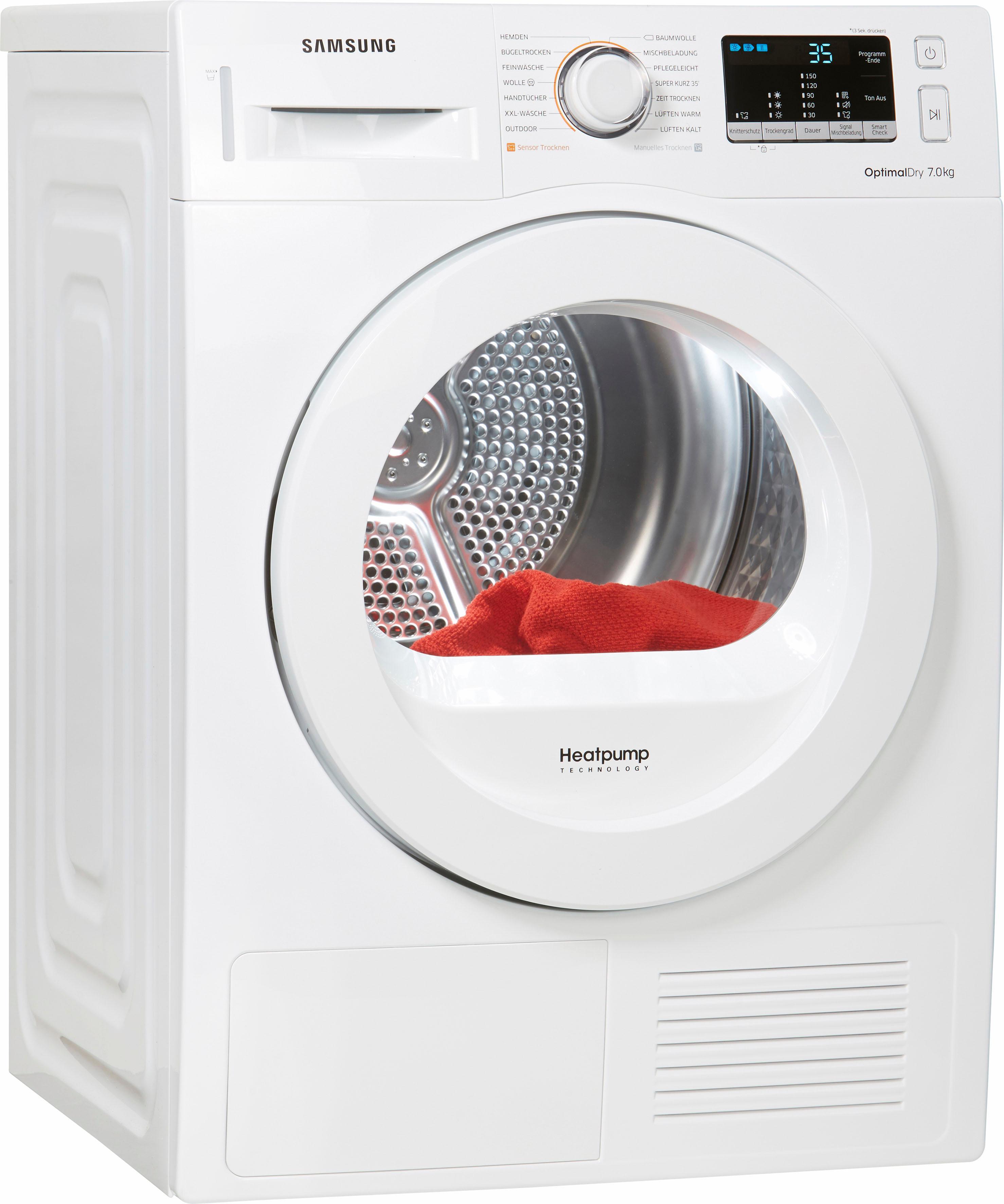 Samsung Wärmepumpentrockner DV4500 DV70M5020KW/EG 7 kg | Bad > Waschmaschinen und Trockner | Weiß | Samsung