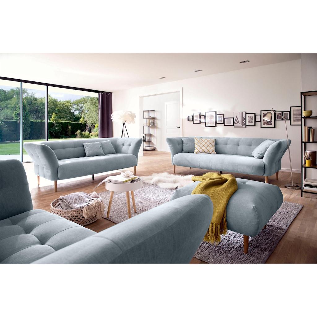 3C Candy 2,5-Sitzer »Trelleborg«, skandinavisches Design mit feiner Steppung und Holzfüßen