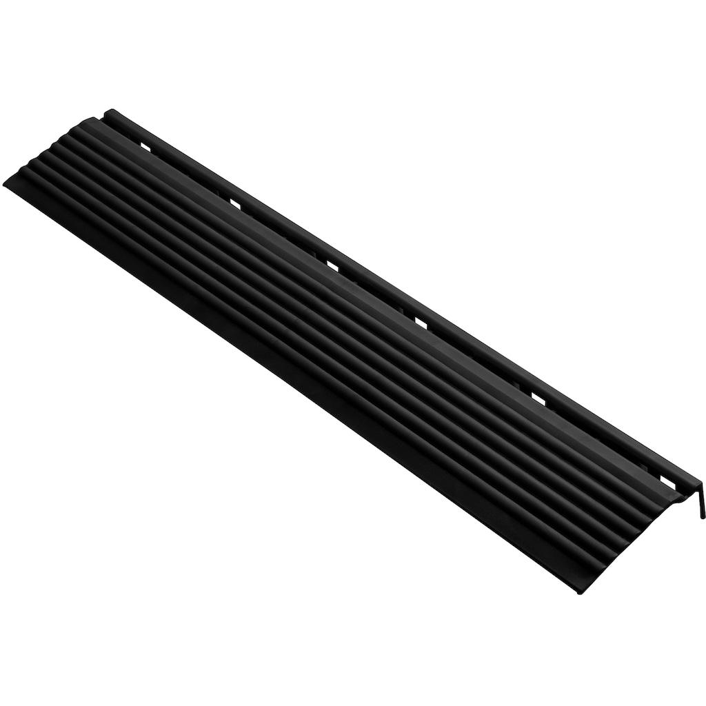 florco® Klickfliesen-Kantenleiste, Seitenteil schwarz, 40 cm