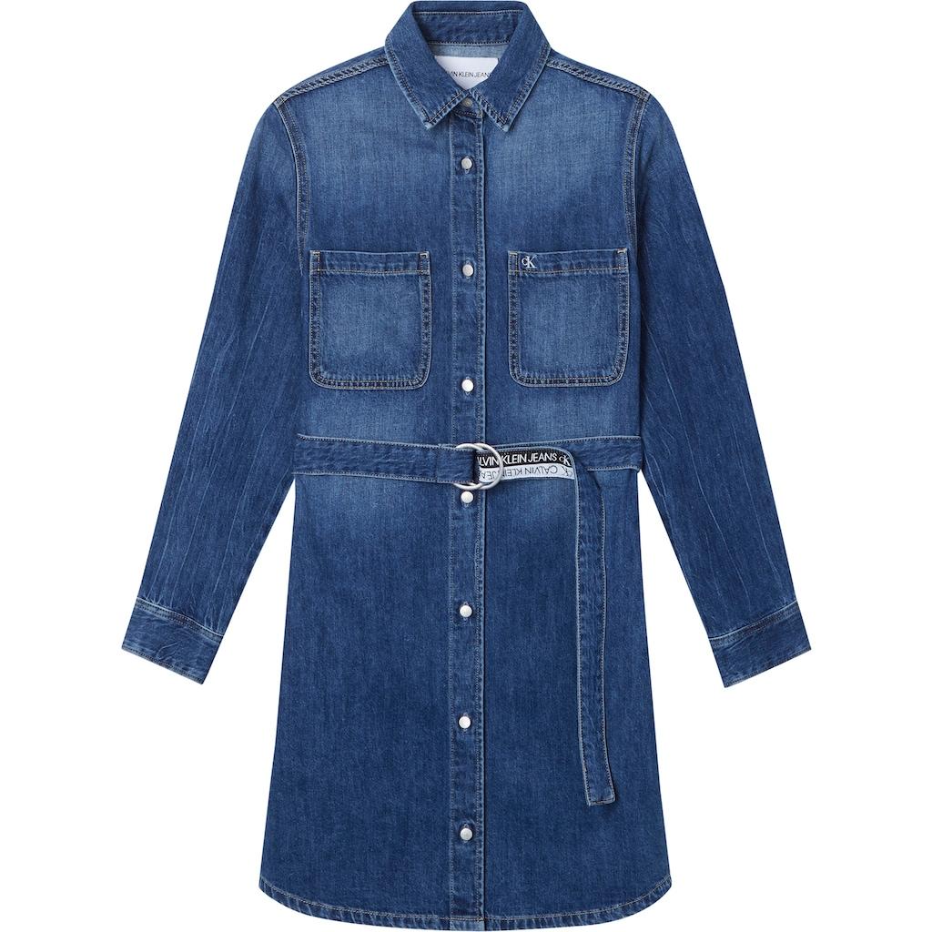 Calvin Klein Jeans Jeanskleid »RELAXED SHIRT DRESS«, mit Calvin Klein Jeans Logo-Gürtel