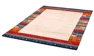 Dekowe Wollteppich »Deepika«, rechteckig, 15 mm Höhe, reine Wolle, Orient-Optik, Gabbeh Design, mit Bordüre, Wohnzimmer kaufen