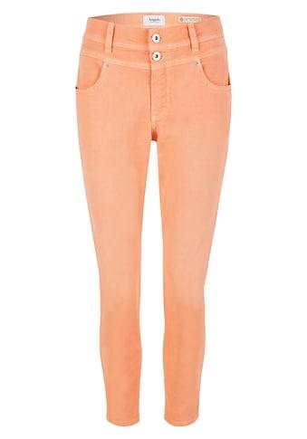 ANGELS 7/8-Jeans, 'Ornella Button' mit unifarbenem Stoff kaufen