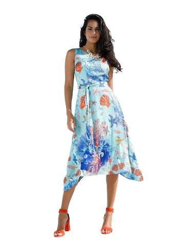 Amy Vermont Kleid mit Aqua-Druck und Zipfelsaum kaufen