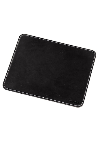 Hama Mauspad Mousepad in edler Lederoptik, schwarz kaufen