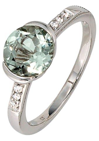 JOBO Diamantring, 585 Weißgold mit Amethyst und 6 Diamanten kaufen