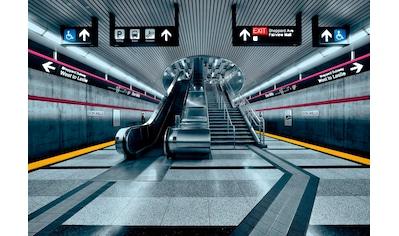 Komar Fototapete »Subway«, bedruckt-Stadt-Kunst, ausgezeichnet lichtbeständig kaufen