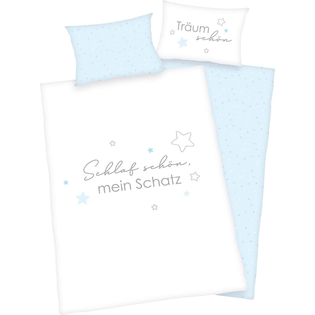 Baby Best Babybettwäsche »Kleiner Schatz«, mit liebevollem Motiv und Schriftzug